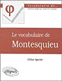 Vocabulaire de Montesquieu (Le)